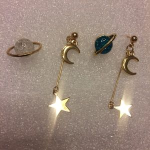 💫New list! 💫 Galactic earrings!
